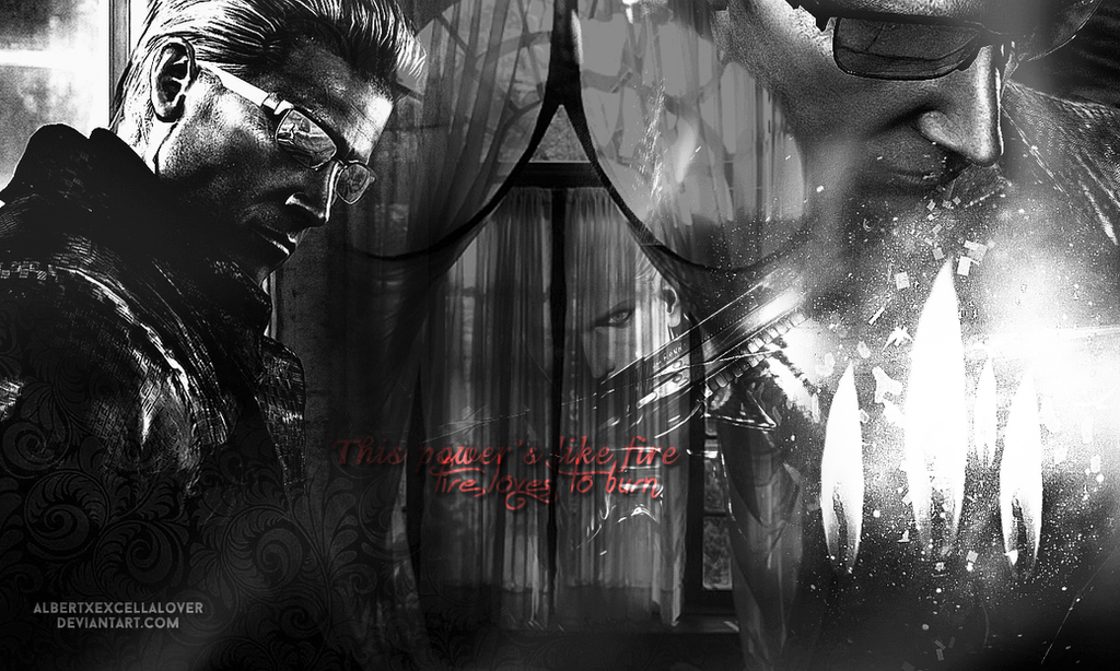 Albert Wesker: Fire loves to burn by AlbertXExcellaLover