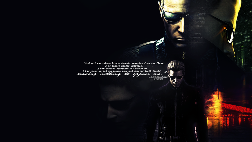 Albert Wesker Wallpaper by AlbertXExcellaLover