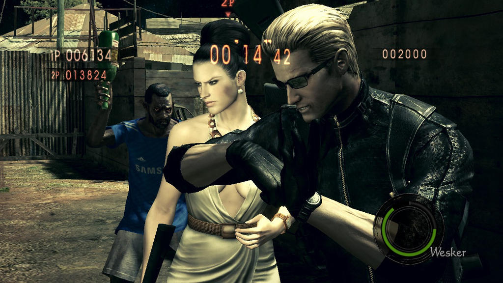 Mr Wesker and Mrs Gionne + Majini by AlbertXExcellaLover