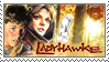 Ladyhawke Stamp by CrystalCurtisArt