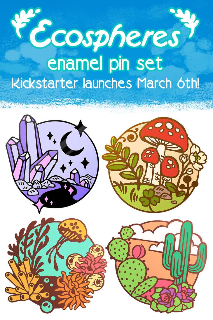 Kickstarter Announcement - Enamel Pin Set by CrystalCurtisArt