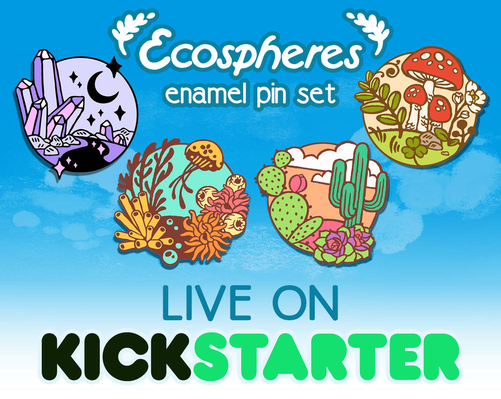 Ecospheres Enamel Pins - Live on Kickstarter! by CrystalCurtisArt