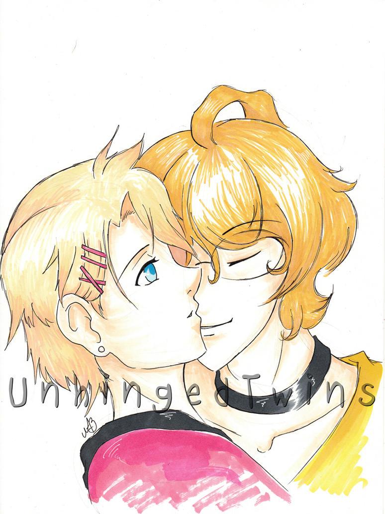 UtaPri Shou and Natsuki - commission by Kuroyoake