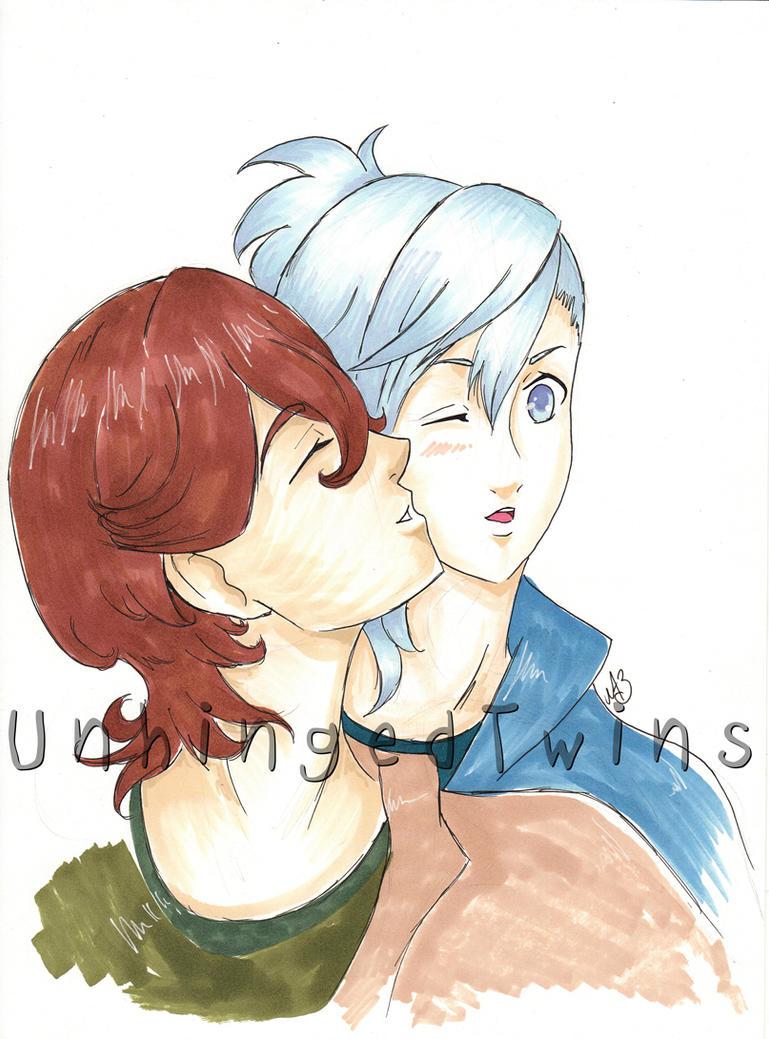 UtaPri Reiji and Ai - commission by Kuroyoake