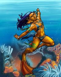 Coral Mermaid by Rizerax