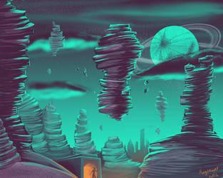 Sci Fi Landscape by Rizerax