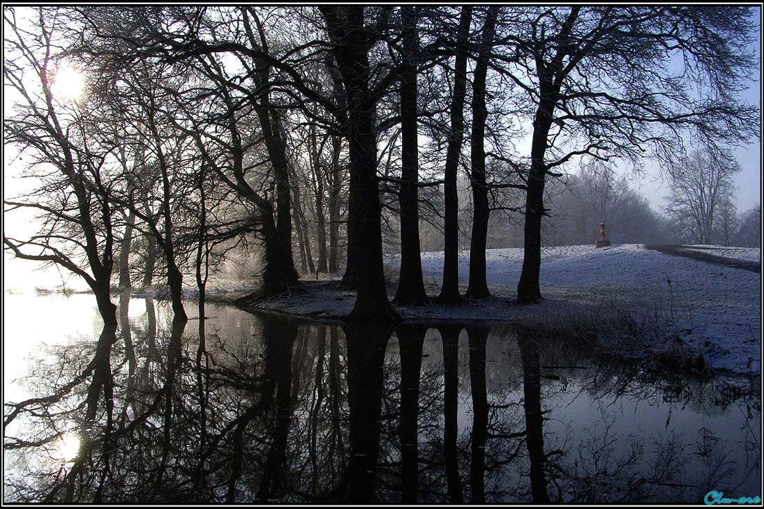 Winter Reflection by Clu-art