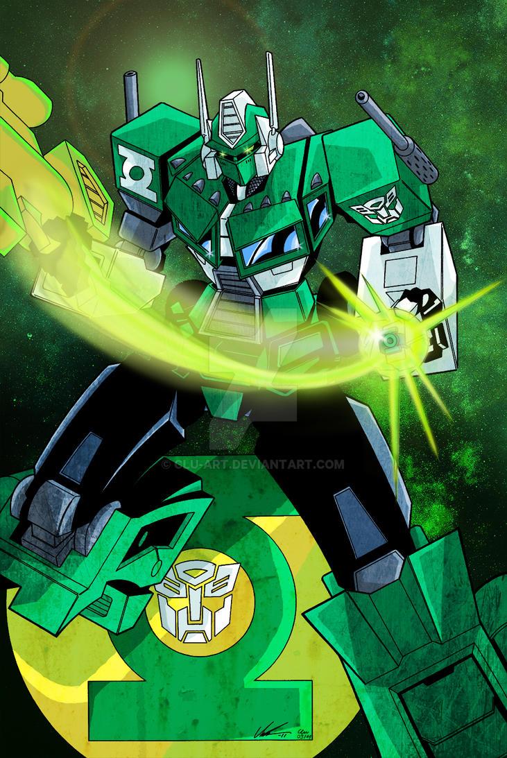 Green Lantern Optimus Prime by Clu-art