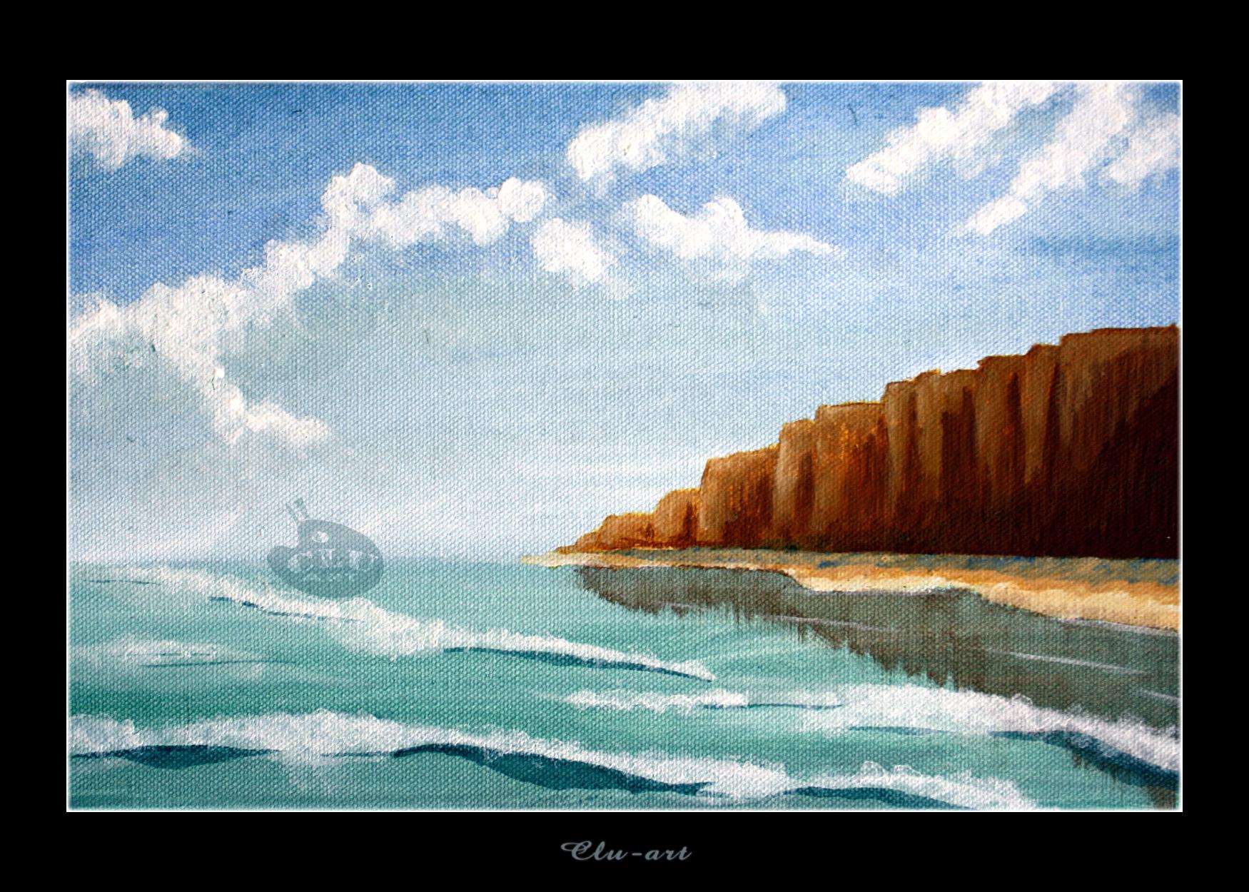 A Cliff by Clu-art