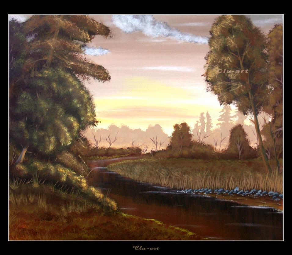 Autumn River by Clu-art