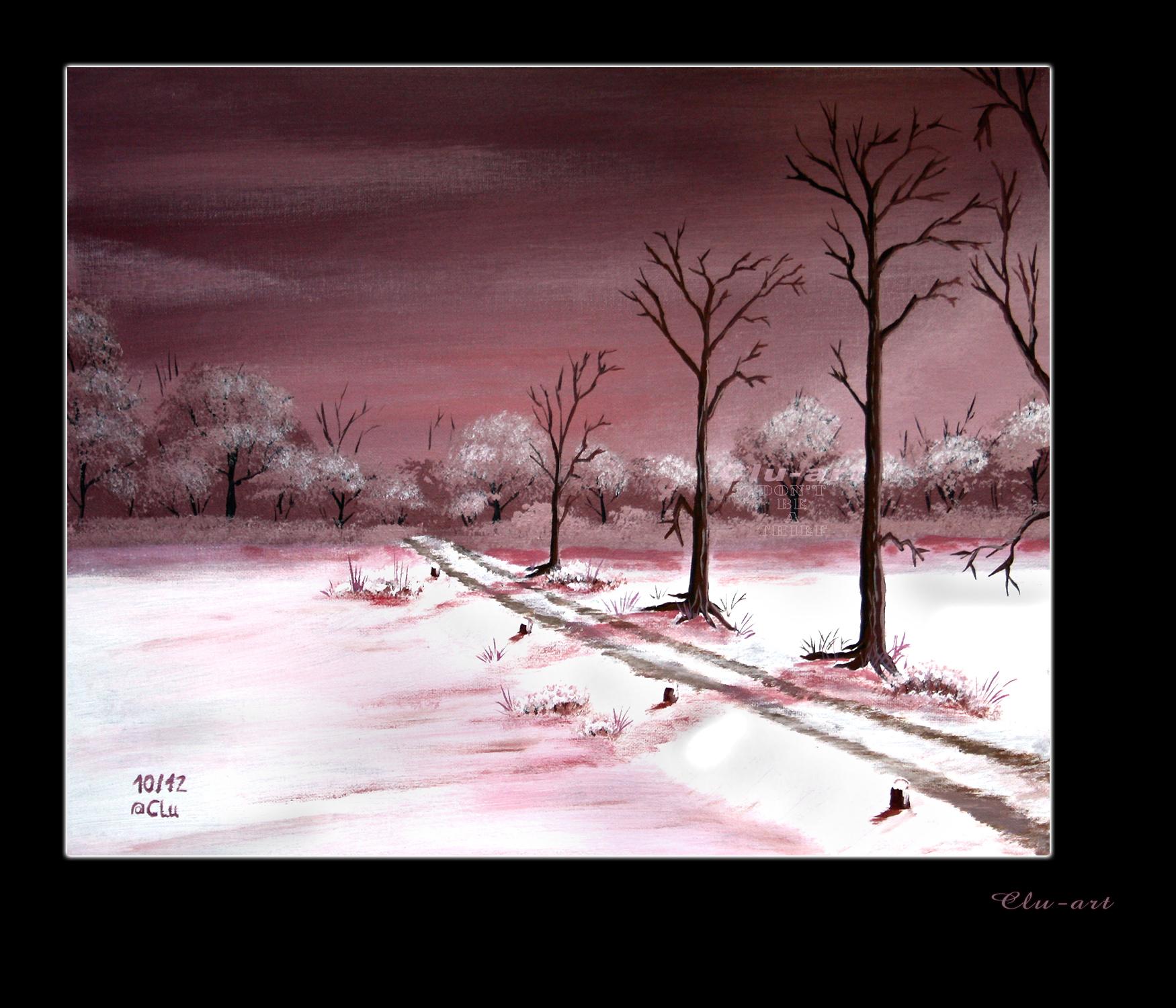 Winter Path by Clu-art