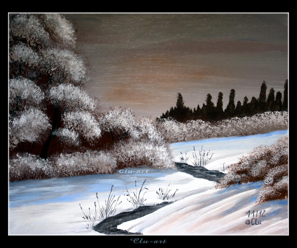 Winter Creek by Clu-art