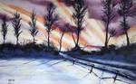 Winter Stroll Wallpaper