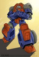 Transformers G1: Gears by Clu-art
