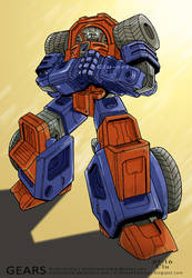 Transformers G1: Gears by Clu-art