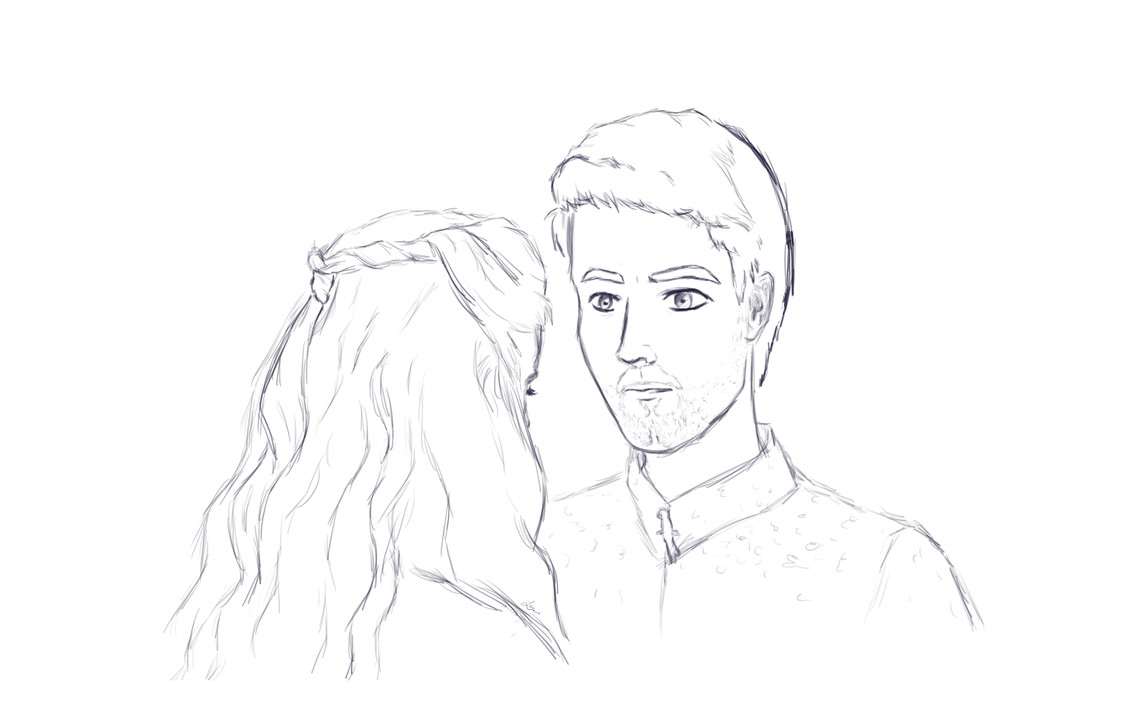 Sansa and Petyr (Sketch) by Leilani-kitty