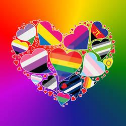 LGBTQA Community Pride Heart