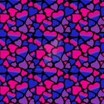 Bisexual Pride Hearts Pattern