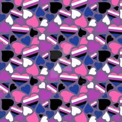 Gender Fluid Pride Hearts Pattern