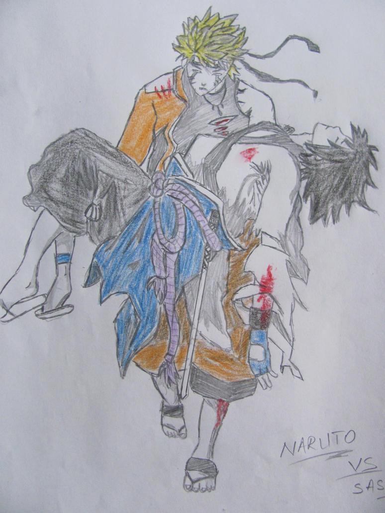 Naruto Vs Sasuke-final battle by xJINCHUURIKIx on DeviantArt