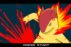 Typhlosion title screen