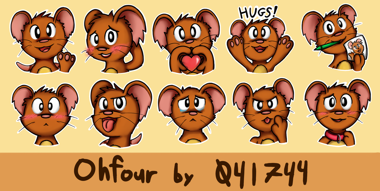 Ohfour Telegram Stickers by 041744