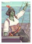 Half-orc pirate