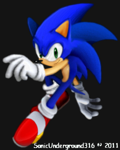 Sonic CGI solo by SonicUnderground316 on DeviantArt