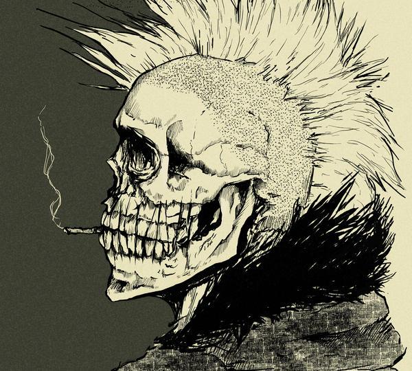 Punk Wallpaper: Punk Skull By Mndcntrl On DeviantArt