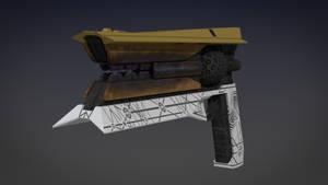 Destiny 2 Sunshot Exotic Handcannon 3d Model (2)