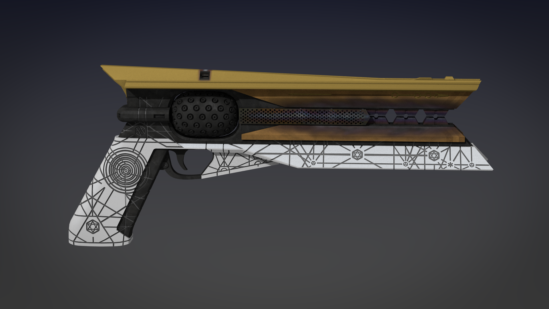 Destiny 2 Sunshot Exotic Handcannon 3d Model (4) by