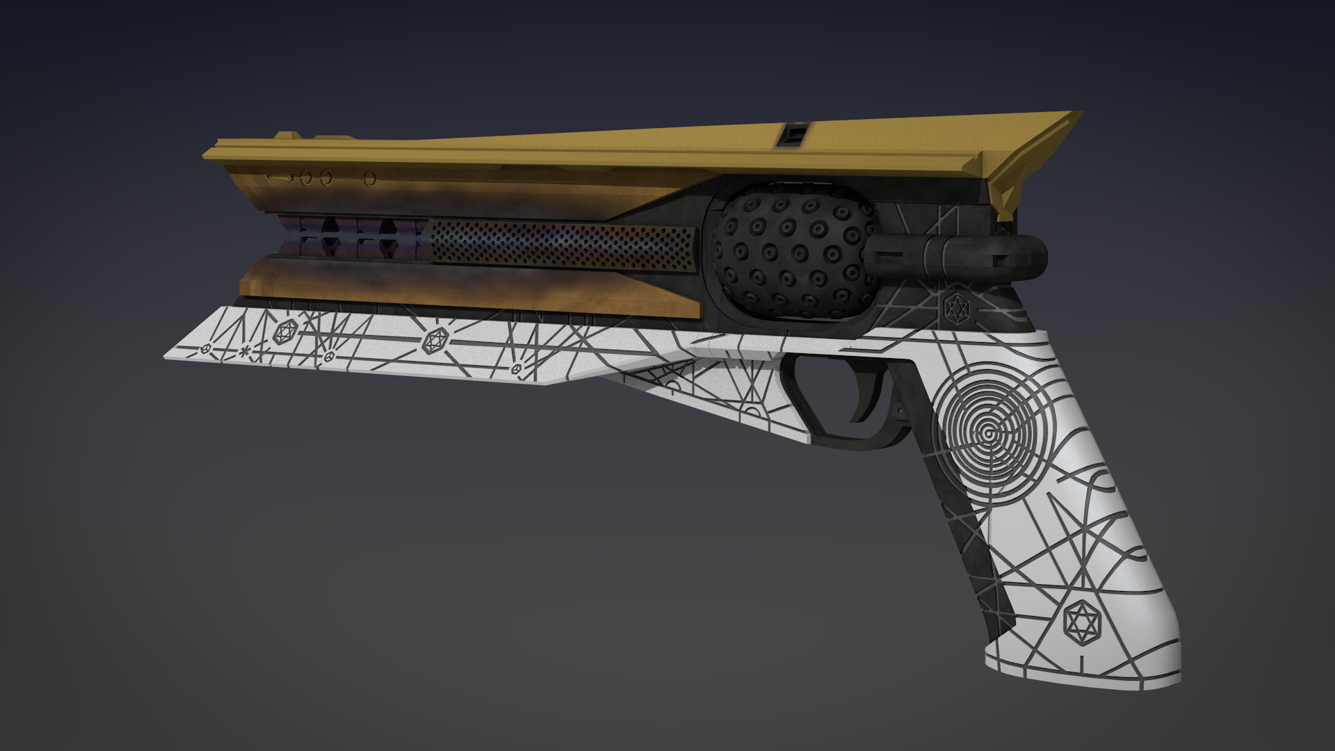 Destiny 2 Sunshot Exotic Handcannon 3d Model (6) by