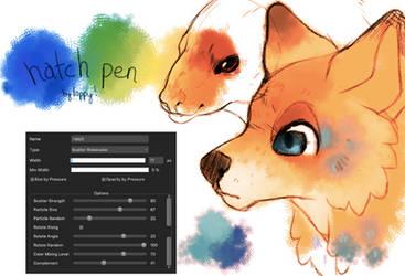 (BRUSH) Medibang Hatch Pen. by loppyrae