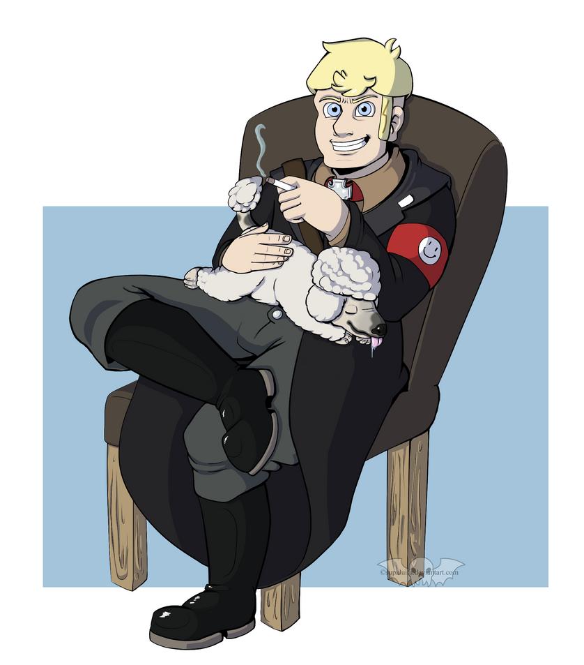 Heini and his dog by supaluilu