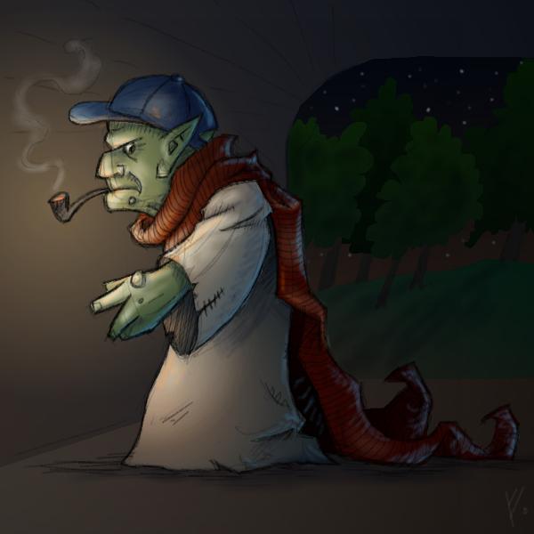 The Old Troll under the Bridge by LittleGreyDragon