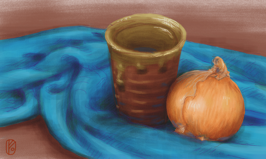 Onion Still Life by LittleGreyDragon