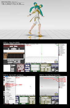 MMD Simple STAGE : TK GRID FLOOR Ver1.02 DL