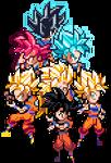 Goku through the years