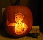 Fallout - vault boy pumpkin