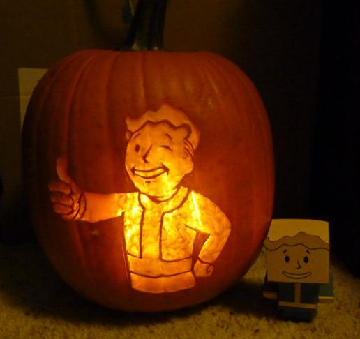 Fallout - vault boy pumpkin by ShiversTheNinja on DeviantArt