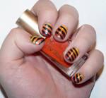 Misc. - fiery stripes nail art
