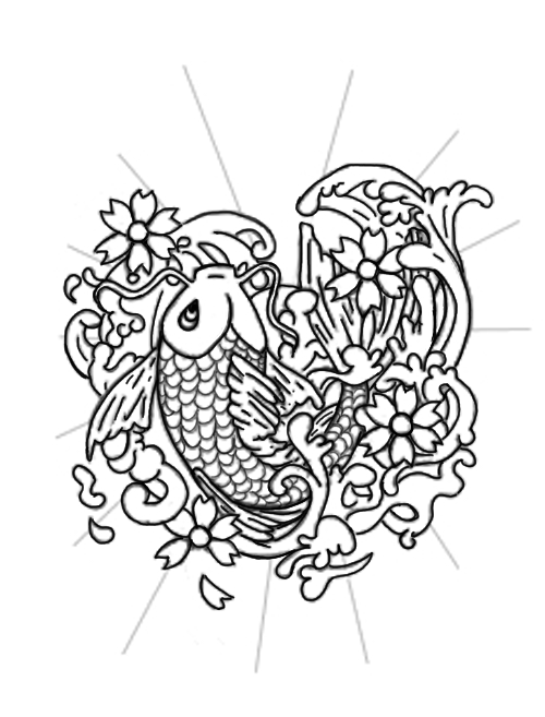 Japanese Koi Fish Tattoo Designs Gallery 16