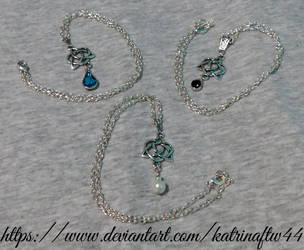 Celtic Heart Necklaces by KatrinaFTW44