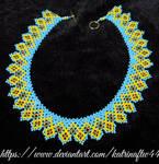 'Blue Sky, Yellow Fields' Necklace by KatrinaFTW44