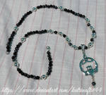 Snowflake Obsidian Celtic Long Necklace by KatrinaFTW44