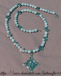 Howlite Celtic Compass Necklace