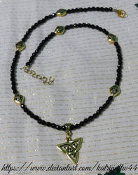Black and Gold Celtic Necklace
