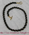 Black and Gold Spiral Necklace by KatrinaFTW44