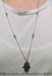 Long Hamsa Necklace by KatrinaFTW44
