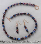 Red, Purple and Blue Rose Gold Set by KatrinaFTW44
